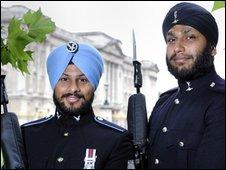 Signaller Simranjit Singh and Lance Corporal Sarvjit Singh