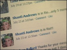 Shanti Andrews' Facebook page