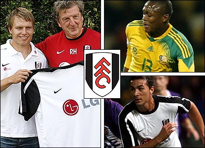 Clockwise from left: Bjorn Helge Riise with Roy Hodgson; Kagisho Dikgacoi; Stephen Kelly