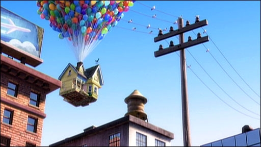A scene from Disney/Pixar film Up