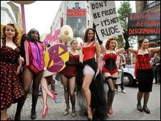 bbc news uk england london dancers march over burlesque row. Black Bedroom Furniture Sets. Home Design Ideas