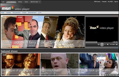 MSN Video Player screenshot (Microsoft)