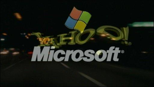 Yahoo and Microsoft logos