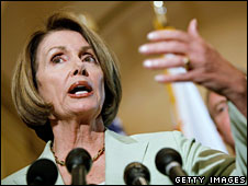 Democratic Speaker of the US House of Representatives Nancy Pelosi