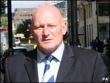 Garry Mann outside court
