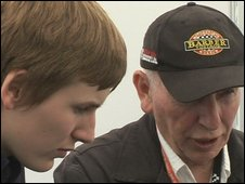 Henry Surtees with his father