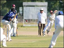 A cricket match in America