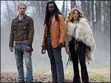 Cam Gigandet, Edi Gathegi and Rachelle Lefevre in Twilight