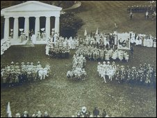 Aerial view of the Pageant
