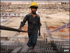 Stadium under construction in Delhi