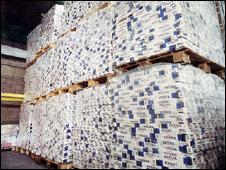 Cigarette haul (Picture from HM Revenue & Customs)