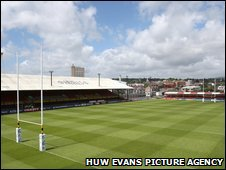 Rodney Parade is home to Newport Gwent Dragons and Newport RFC