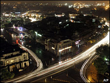 Delhi at night