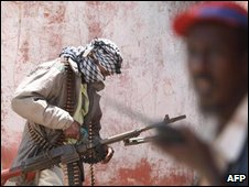 Islamist insurgents in Mogadishu, file image