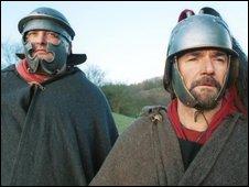 Men dressed as Roman Centurions
