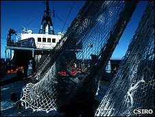 Technology has made modern vessels very efficient at landing fish. Fishing vessel (Image: CSIRO)