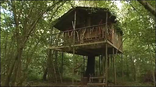 Nick Weston is living in this tree house