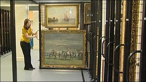 Many works of art are kept in storage