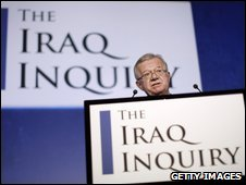 Sir John Chilcot at the launch of his inquiry