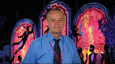 Peter works with a team throughout the year getting the Illuminations ready for the autumn switch-on
