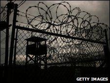 Security fences at Guantanamo Bay (file image)