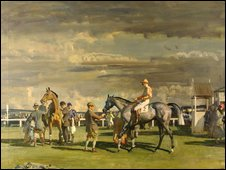 After the Race, oil on canvas, by Alfred Munnings (1878 – 1959). Copyright Tate, 2009