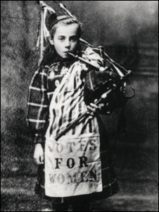 girl with bagpipes