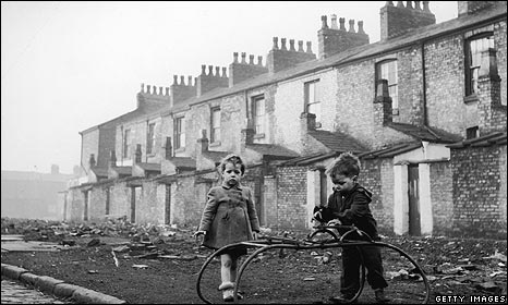 Boys in Hulme, Manchester, in 1954