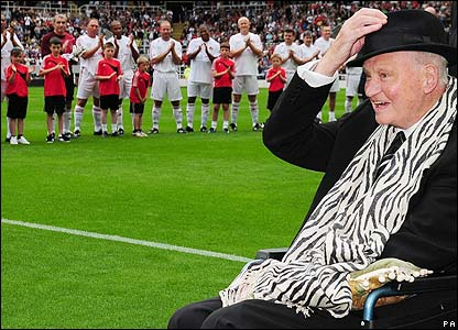 Sir Bobby pictured at the Bobby Robson Trophy match at St James' Park in Newcastle
