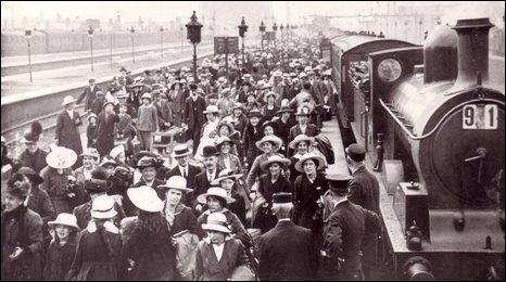 Blackpool Central Station in 1917