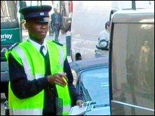 Trafic warden
