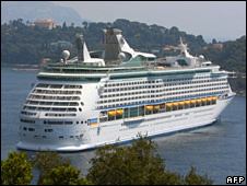 Voyager of the Seas at Villefranche-sur-Mer (31 July 2009)