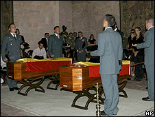Funeral of the two Civil Guards in Majorca, 31 Jul 09