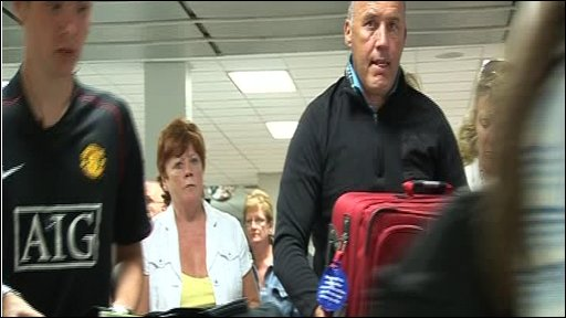 Holidaymakers returning from Majorca