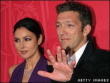Vincent Cassel with wife Monica Bellucci