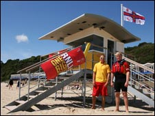 Beach lifeguards at Branksome: Pic RNLI