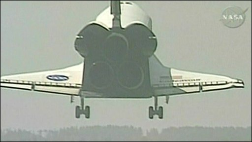 Space shuttle Endeavour lands