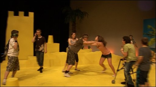 Deaf Youth Theatre in rehearsal