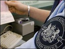 Immigration officer at Heathrow