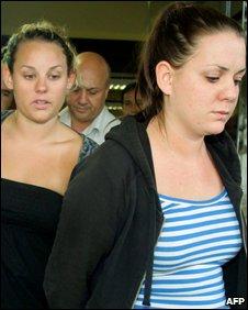 Shanti Andrews (left) and Rebecca Turner