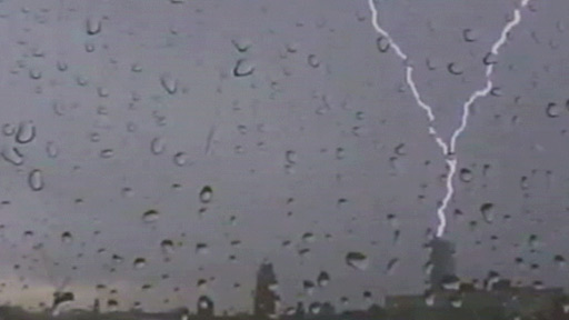 Lightning strikes the Beetham Tower