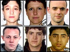 Images of six Eta suspects wanted by Spanish police