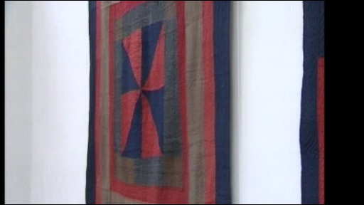 Quilts on display at the Lampeter museum