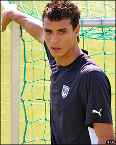 Bordeaux striker Marouane Chamakh