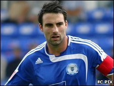 Peterborough defender Craig Morgan