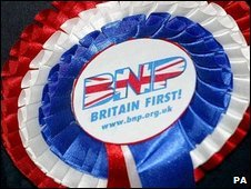 BNP election rosette