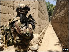 French soldier in operation in Kapisa province