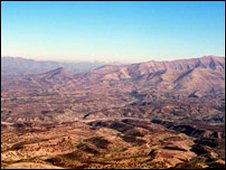 A view of the mountains of Kurdish northern Iraq (archive image)