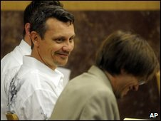 Dale Neumann during his trial in Wausau Wisconsin, 28 July 2009