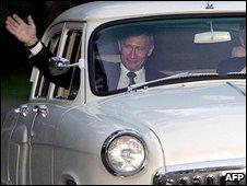 Vladimir Putin in Volga car